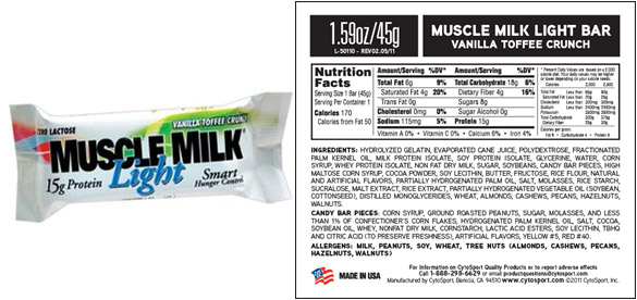 Muscle Milk Bars