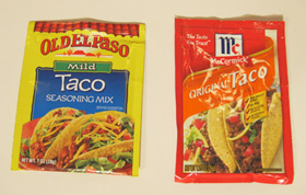 2 brands taco seasoning
